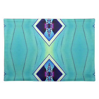 Vibrant Pastel Artistic Geometric Pattern Placemat
