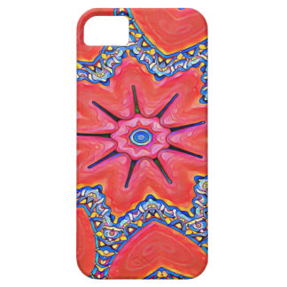 Vibrant Peach Rose Colored Kaleidoscope Pattern Case For The iPhone 5