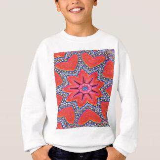 Vibrant Peach Rose Colored Kaleidoscope Pattern Sweatshirt