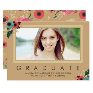 Vibrant | Photo Graduation Announcement Gold
