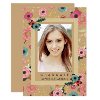 Vibrant | Photo Graduation Party Invitation Gold