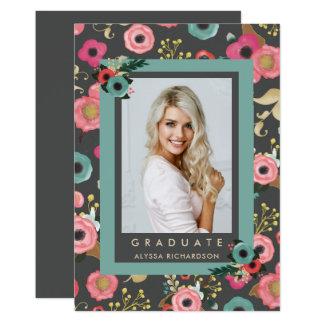Vibrant | Photo Graduation Party Invitation Gray