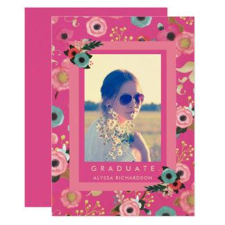 Vibrant | Photo Graduation Party Invitation Pink