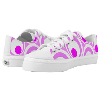 Vibrant Pink Abstract circles Low-Top Sneakers