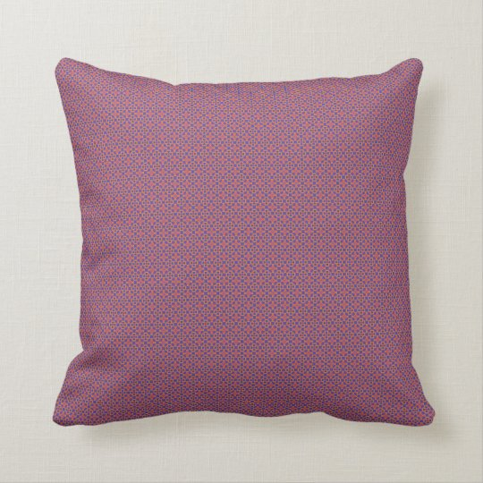 Vibrant Pink and Purple Floral Bells Throw Pillow
