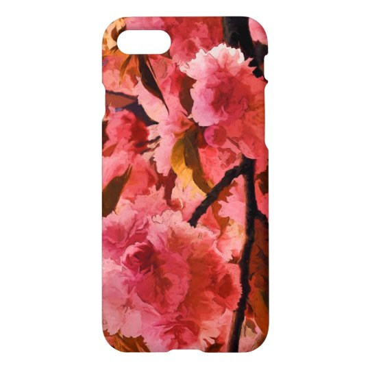 Vibrant Pink Cherry Blossoms iPhone 7 Case