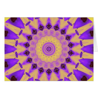 Vibrant Purple and Yellow Kaleidoscope card
