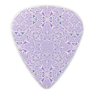 Vibrant purple blue abstract design acetal guitar pick