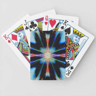 Vibrant Radiating Funky Pattern Bicycle Playing Cards