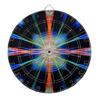 Vibrant Radiating Funky Pattern Dartboard