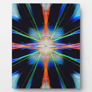 Vibrant Radiating Funky Pattern Plaque