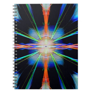 Vibrant Radiating Funky Pattern Spiral Notebook