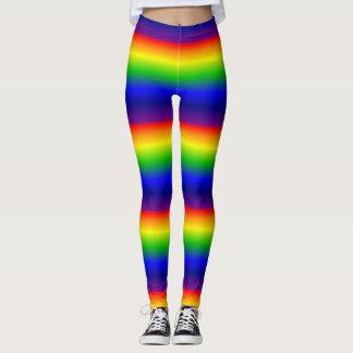 Vibrant rainbow leggings
