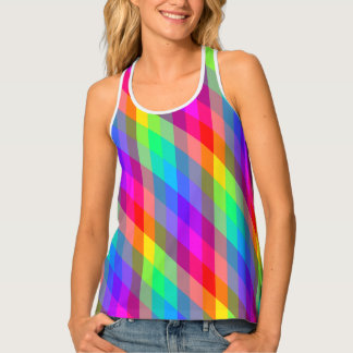 Vibrant Rainbow Prism Tank Top