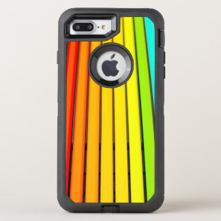 Vibrant Rainbow Striped Pattern OtterBox Defender iPhone 8 Plus/7 Plus Case