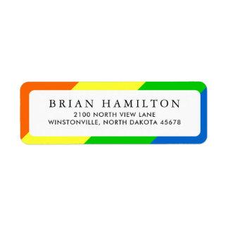Vibrant Rainbow Style   Return Address