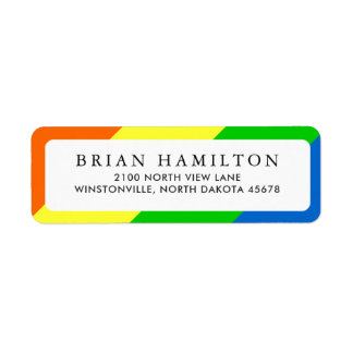 Vibrant Rainbow Style   Return Address Return Address Label