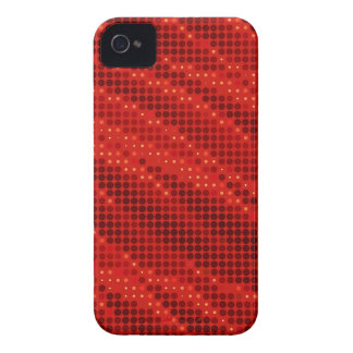 Vibrant red dot & wave pattern Case-Mate iPhone 4 case
