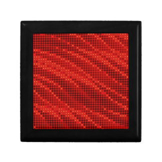 Vibrant red dot & wave pattern gift box