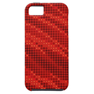 Vibrant red dot & wave pattern iPhone 5 covers