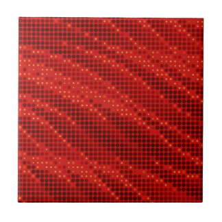 Vibrant red dot & wave pattern tile