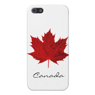 Vibrant Red Maple Leaf- Canada iPhone 5/5S Covers