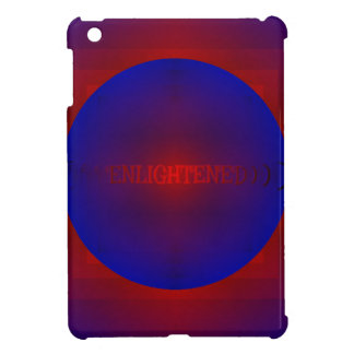 "Vibrant Red Royal Blue ""Enlightened"" Pattern iPad Mini Cases"