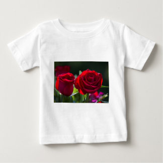 Vibrant Romantic Red Roses Baby T-Shirt