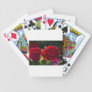 Vibrant Romantic Red Roses Poker Deck
