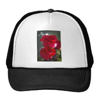 Vibrant Romantic Red Roses Trucker Hat