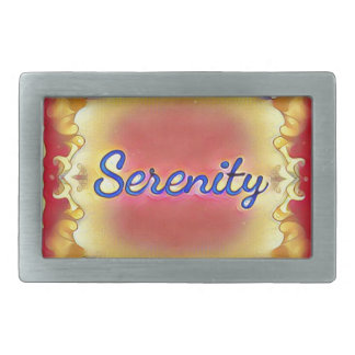 Vibrant Rose Yellow Inspirational Framed Serenity Belt Buckles