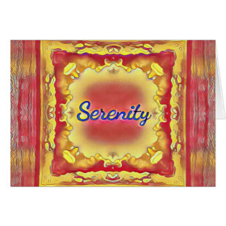 Vibrant Rose Yellow Inspirational Framed Serenity Card
