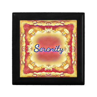 Vibrant Rose Yellow Inspirational Framed Serenity Gift Box