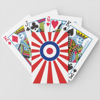 Vibrant Roundel Mods JAPAN Target Scooter Bicycle Playing Cards