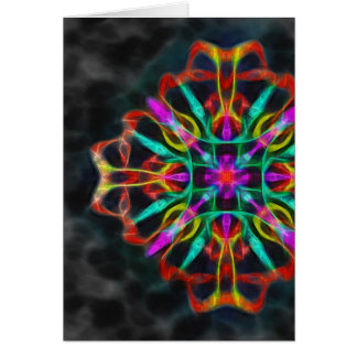 Vibrant shield decoration vertical card