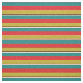 Vibrant Small Palette Stripes Fabric