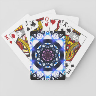 Vibrant Star Light Mandala Playing Cards