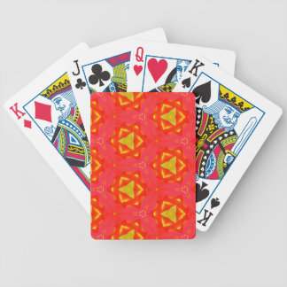 vibrant Strawberry Red Yellow Hip Modern Pattern Bicycle Playing Cards