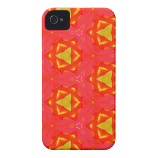 vibrant Strawberry Red Yellow Hip Modern Pattern iPhone 4 Case-Mate Case