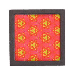 vibrant Strawberry Red Yellow Hip Modern Pattern Premium Jewelry Boxes
