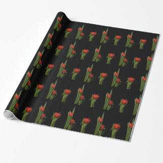Vibrant Stylish Red Tulip Wrapping Paper