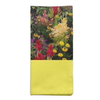 Vibrant Summer Flower Garden in Orlando Florida Cloth Napkins