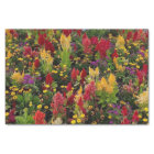 Vibrant Summer Flower Garden in Orlando Florida Tissue Paper