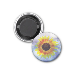 Vibrant Sunflower on Sky - Chilled Peace Look Magnet
