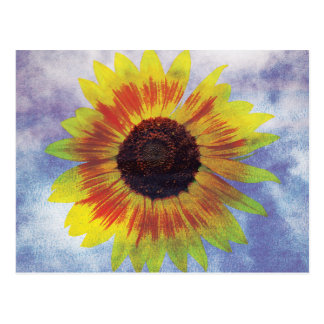 Vibrant Sunflower on Sky - Chilled Peace Look Postcard