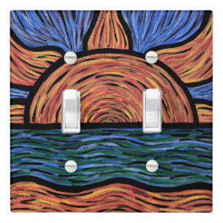 Vibrant Sunrise Painting Colors In Motion Light Switch Cover