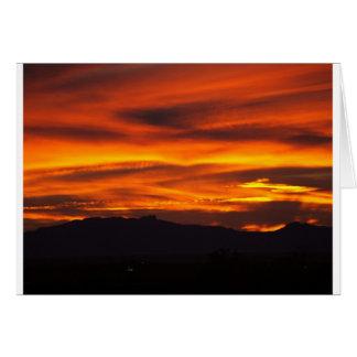 vibrant sunset card