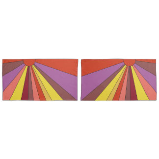 Vibrant Sunset Design Pillowcase