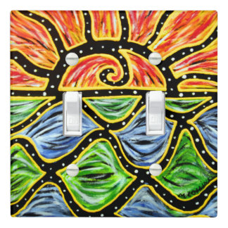 Vibrant Sunset Painting Light Switch Cover