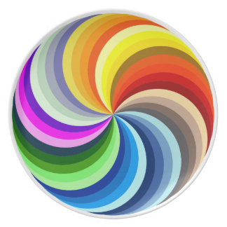 Vibrant Swirls Party Plates